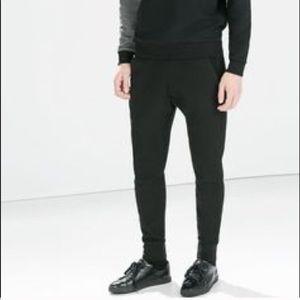 Zara black joggers in small